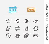 finance icons set. stock sector ...