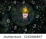 magic world of numerology | Shutterstock . vector #1142686847