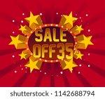 sale off 35   beautiful... | Shutterstock .eps vector #1142688794