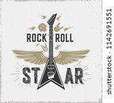 """rock n roll"" star.all elements ...   Shutterstock .eps vector #1142691551"