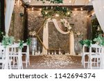 magnificent decoration of a... | Shutterstock . vector #1142694374