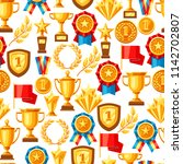 awards and trophy seamless... | Shutterstock .eps vector #1142702807