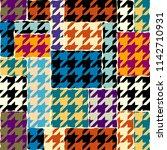 seamless geometric pattern.... | Shutterstock .eps vector #1142710931