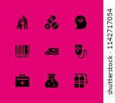 medical icon set. barcode ... | Shutterstock .eps vector #1142717054