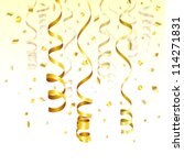 birthday background with gold... | Shutterstock .eps vector #114271831