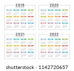 set of minimalist calendars ... | Shutterstock .eps vector #1142720657