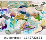abstract watercolor painting of ... | Shutterstock . vector #1142722631