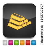 gold bar icon  golden bars ... | Shutterstock .eps vector #1142727107