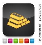 gold bar icon  golden bars ... | Shutterstock .eps vector #1142727107