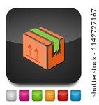 shipping box icon  vector... | Shutterstock .eps vector #1142727167