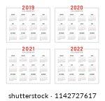 set of minimalist calendars ...   Shutterstock .eps vector #1142727617