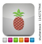 vector pineapple icon  tropical ... | Shutterstock .eps vector #1142727944