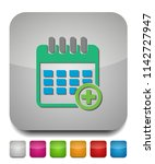 calendar with add sign icon ... | Shutterstock .eps vector #1142727947