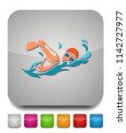 swimming icon  vector swimming... | Shutterstock .eps vector #1142727977