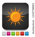 sun sign icon  vector sunlight  ... | Shutterstock .eps vector #1142728001