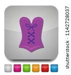 corset icon  vector lingerie ... | Shutterstock .eps vector #1142728037