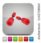 dumbell icon  vector gym... | Shutterstock .eps vector #1142728064