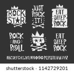 rock'n'roll signs elements... | Shutterstock .eps vector #1142729201