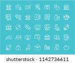 collection of line white icons...   Shutterstock .eps vector #1142736611
