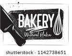 bakery poster on white... | Shutterstock .eps vector #1142738651