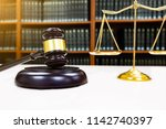 judge gavel with justice... | Shutterstock . vector #1142740397