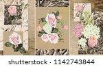 collection of designer oil... | Shutterstock . vector #1142743844