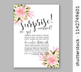 wedding invitation card with... | Shutterstock .eps vector #1142749601