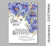 wedding invitation card with... | Shutterstock .eps vector #1142749664