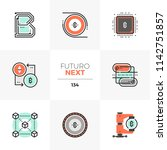modern flat icons set of... | Shutterstock .eps vector #1142751857
