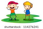 illustration of a boys on a... | Shutterstock .eps vector #114276241