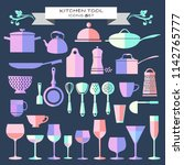 vector kitchenware and... | Shutterstock .eps vector #1142765777