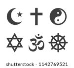 religion vector icon and symbol | Shutterstock .eps vector #1142769521