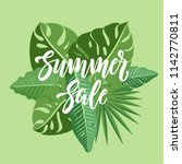 summer sale lettering on a... | Shutterstock .eps vector #1142770811