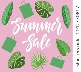 summer sale concept design with ... | Shutterstock .eps vector #1142770817
