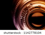 fragment of the camera lens | Shutterstock . vector #1142778104