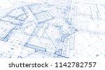 architecture design  blueprint... | Shutterstock . vector #1142782757
