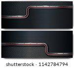 two dark metal perforated... | Shutterstock .eps vector #1142784794