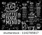 coffee house menu. restaurant...   Shutterstock .eps vector #1142785817