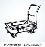 big empty forklift handcart... | Shutterstock .eps vector #1142786024