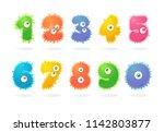 funny cartoon characters.... | Shutterstock .eps vector #1142803877