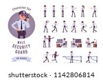 male security guard ready to... | Shutterstock .eps vector #1142806814