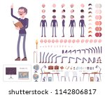 male teacher character creation ... | Shutterstock .eps vector #1142806817