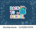 back to school. hand lettering...   Shutterstock .eps vector #1142814194