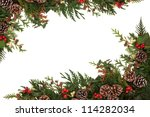 Christmas Border Of Holly  Ivy...