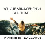 inspirational motivating quotes.... | Shutterstock . vector #1142824991
