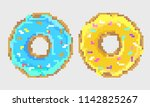 pixel colored donuts | Shutterstock .eps vector #1142825267