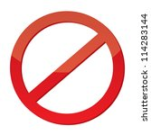 not allowed sign  vector | Shutterstock .eps vector #114283144