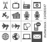 media icons. simplus series.... | Shutterstock .eps vector #114283147
