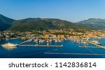 aerial view of the evening in... | Shutterstock . vector #1142836814