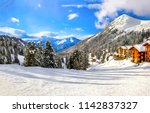 winter mountain snow ski resort ... | Shutterstock . vector #1142837327